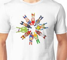 Superhero Butts Circular Unisex T-Shirt