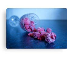 Spilled Raspberries Canvas Print