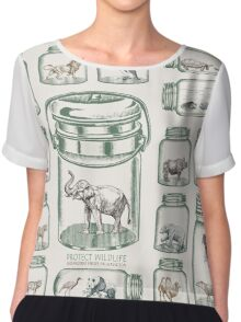Protect Wildlife - Endangered Species Preservation  Chiffon Top