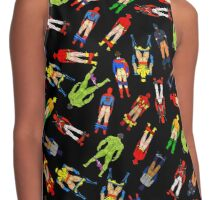 Superhero Butts Scattered on Black Contrast Tank
