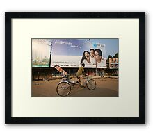 Clash of Cultures - India Framed Print