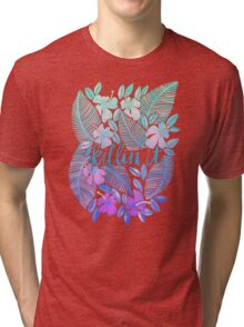 Killin' It – Turquoise + Lavender Ombré Tri-blend T-Shirt