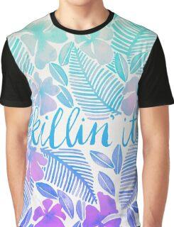 Killin' It – Turquoise + Lavender Ombré Graphic T-Shirt