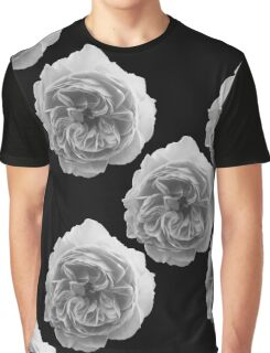 Rose Black and White Graphic T-Shirt