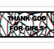Thank God for Girls - Weezer Sticker