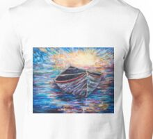 Wooden Boat at Sunrise Unisex T-Shirt