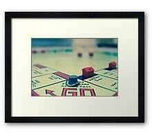 A Game of Monopoly Framed Print