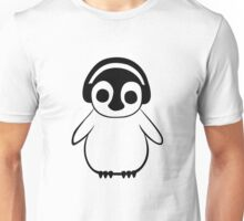 Penguin Listens to Music Unisex T-Shirt