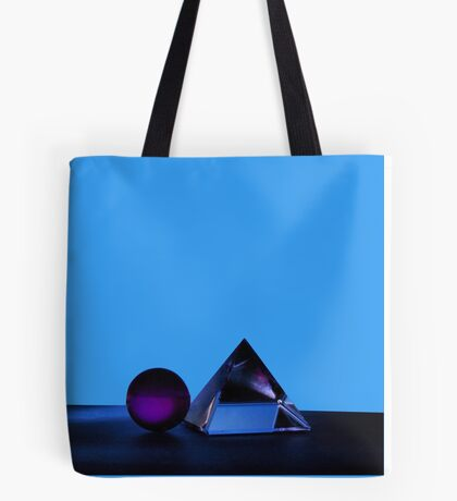 A Purple Sphere With A Glass Pyramid Tote Bag