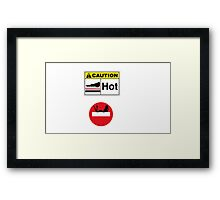 Hot road sign Framed Print