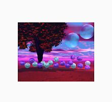 Bubble Garden, Abstract Rose, Violet & Azure Wisdom Unisex T-Shirt