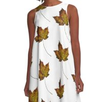 Maple Leaf in Fall A-Line Dress