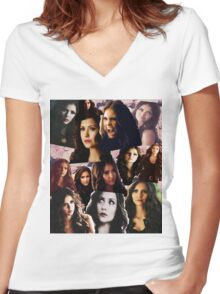 Katherine Pierce Women's Fitted V-Neck T-Shirt