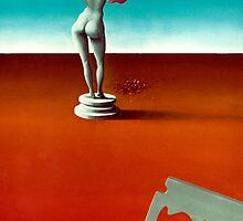 """Razor and Rose"" 1976 by Stephen Gorton"