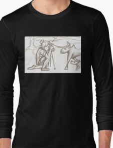 Photographer and wolves Long Sleeve T-Shirt
