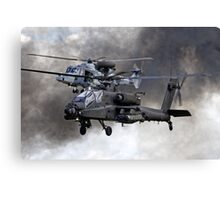 AgustaWestland Apache AH1 & AW159 Wildcat HMA2 Helicopters Canvas Print