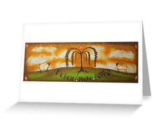 Faith Hope Family Folk Painting  Greeting Card