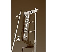 Route 66 - Aztec Motel Photographic Print