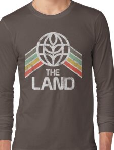 The Land Logo Distressed in Vintage Retro Style Long Sleeve T-Shirt