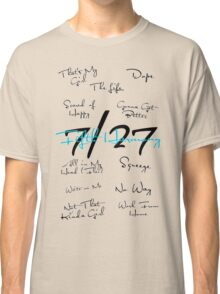 Fifth Harmony Song Titles Design  Classic T-Shirt