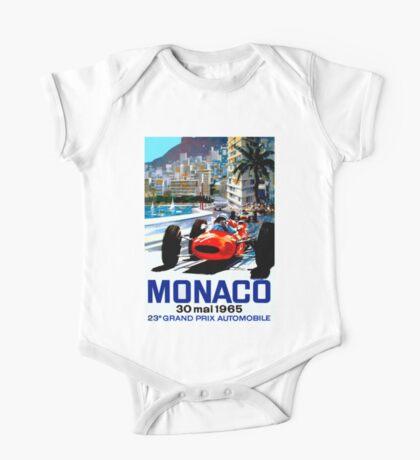 """MONACO GRAND PRIX"" Vintage Auto Racing Print One Piece - Short Sleeve"