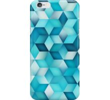 Blue Shades Gradient Rhombus Pattern iPhone Case/Skin