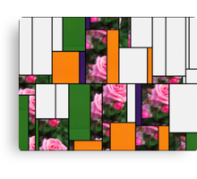 Pink Roses in Anzures 1 Art Rectangles 5 Canvas Print