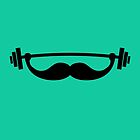 Funny Fitness Mustache / Beard by badbugs