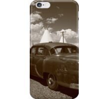 Route 66 - Wigwam Motel and Classic Car iPhone Case/Skin