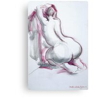 Figure in Pink and Grey Canvas Print