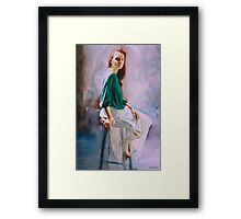 Janine in Sunlight Framed Print