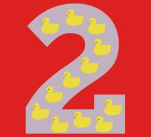 Duckling number 2 pink Kids Tee