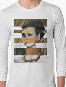 Frida Kahlo's Self Portrait with Monkey & Audrey Hepburn Long Sleeve T-Shirt