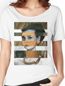 Frida Kahlo's Self Portrait with Monkey & Audrey Hepburn Women's Relaxed Fit T-Shirt