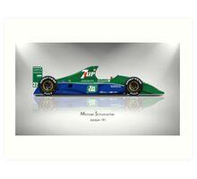 Michael Schumacher - Jordan 191 - Spotlight Art Print Art Print