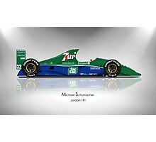 Michael Schumacher - Jordan 191 - Spotlight Art Print Photographic Print
