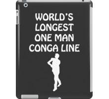 World's Longest One Man Conga Line - white design iPad Case/Skin