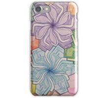 Symmetry flowers iPhone Case/Skin
