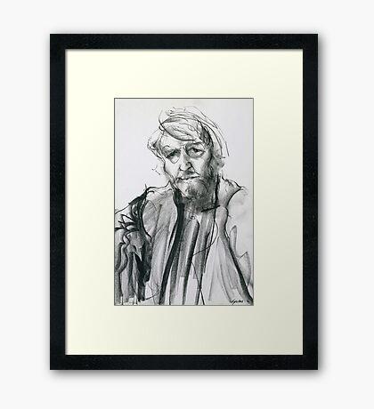 David Boyd (Black Pastel) Framed Print