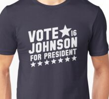 Vote Gary Johnson For President Unisex T-Shirt
