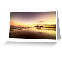 Bantham Beach Reflections  Greeting Card
