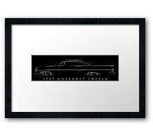 1959 Chevy Impala - Stencil Framed Print