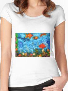 Underwater Women's Fitted Scoop T-Shirt
