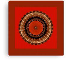 Light Waves Mandala Canvas Print
