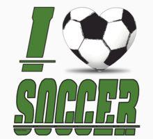 I love soccer Baby Tee