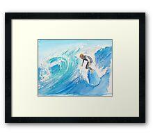 Catch a wave... Noah Framed Print