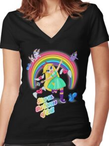 Star vs. the Forces of Lisa Frank Women's Fitted V-Neck T-Shirt