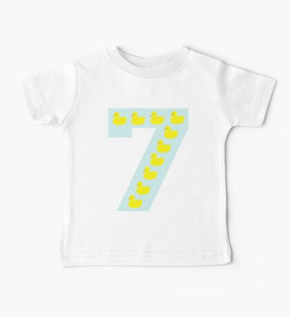 Duckling number 7 blue Baby Tee