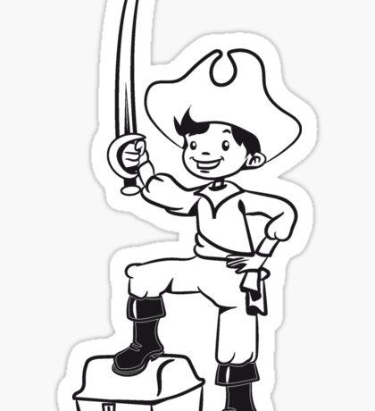 Pirat junge spass spielen schatztruhe   Sticker