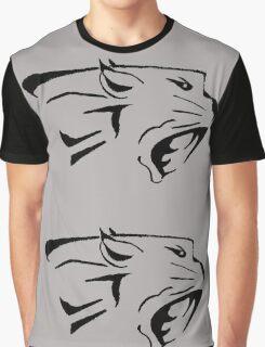 Big Cat Tribal Vector Graphic T-Shirt